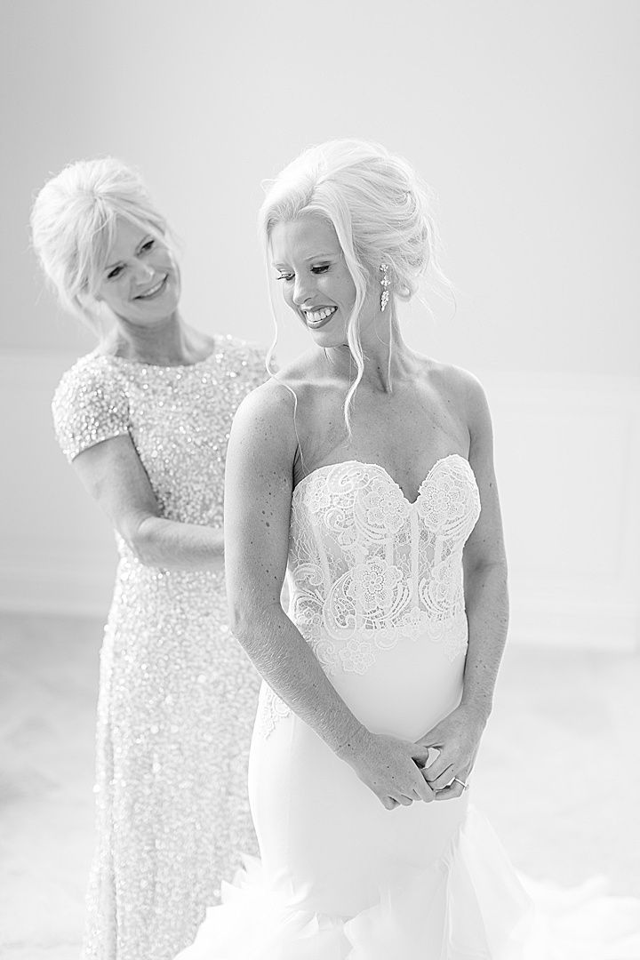 Classic wedding at Matthews Manor in Birmingham, Larazo wedding gown ...