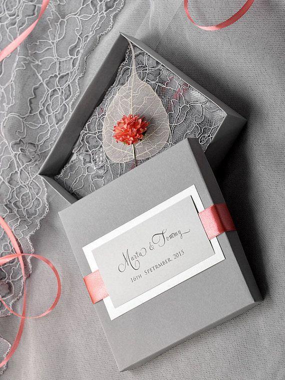 15 rustic wedding invitations from etsy | box wedding invitations,