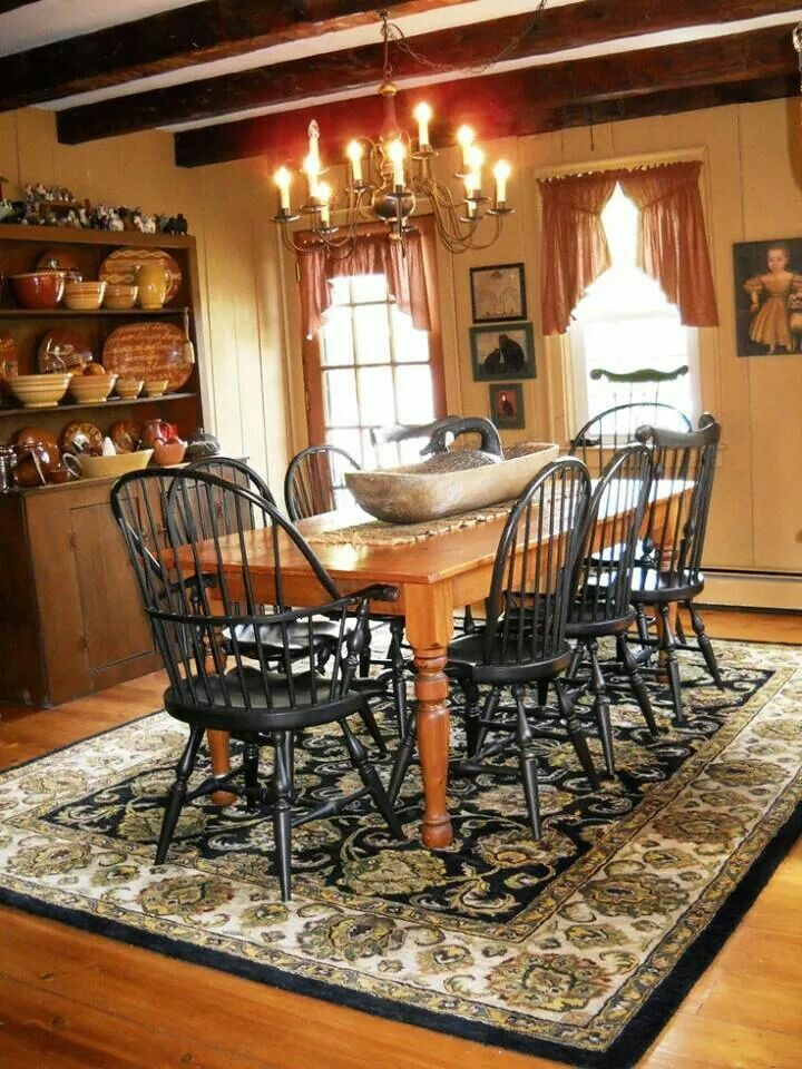 Country Decor Primitive Dining RoomsCountry