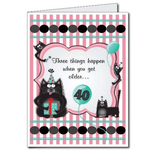 2x3 Giant 40th Birthday Card With Envelope