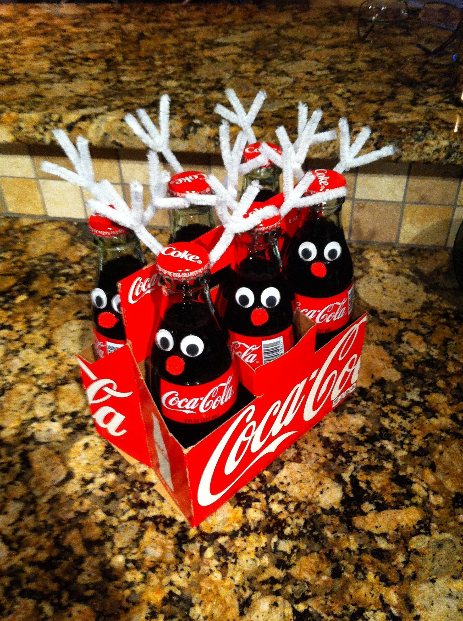 Coke bottle reindeer! Cute inexpensive Christmas gift idea ...