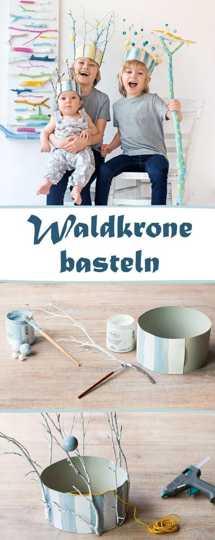 waldkrone basteln f r kleine elfen und k nige diy f r kinder pinterest wald basteln mit. Black Bedroom Furniture Sets. Home Design Ideas