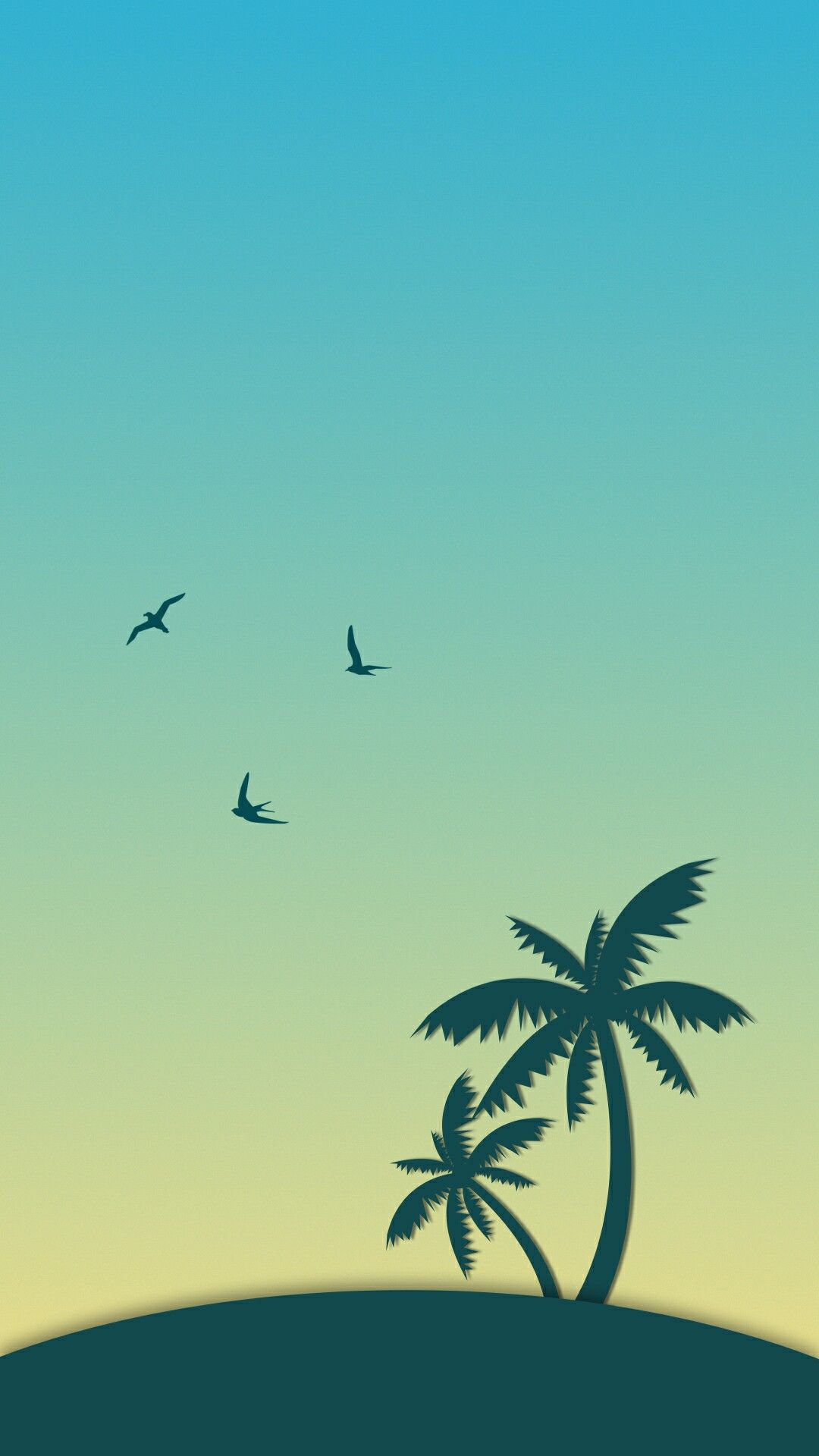 flat illustration flat design palm trees iphone wallpapers summer wallpaper wallpaper s art interiors artwork comment please