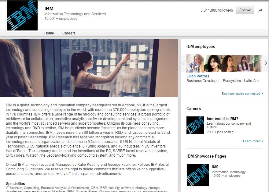 IBM-LinkedIn-Page