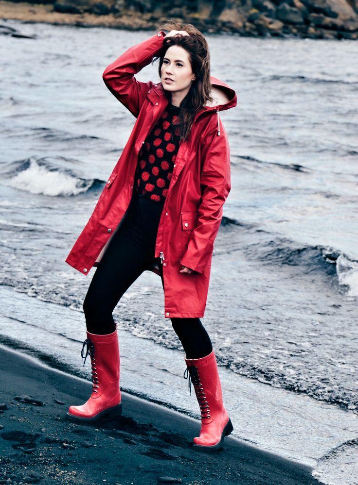 | Domain For Sale | Rain jacket women, Red