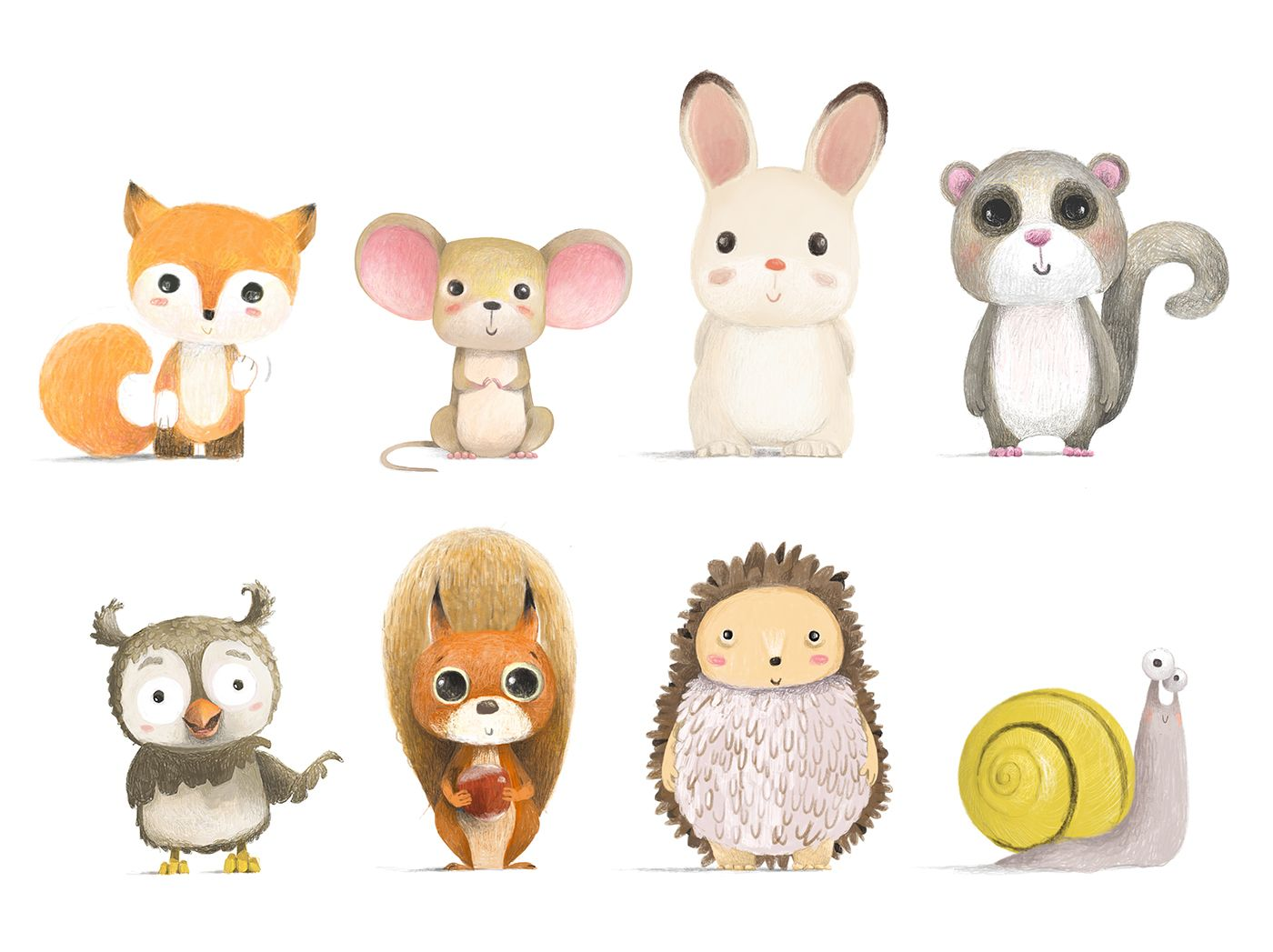 Illustration, Character Design, Cartooning // CUTE FOREST