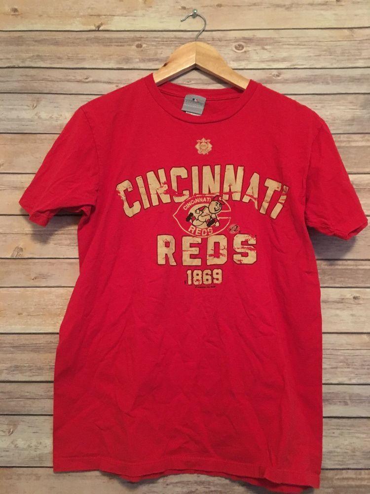c18153b5ead Cincinnati Reds TShirt Graphic Tee Genuine MLB Merchandise Unisex Medium  Red