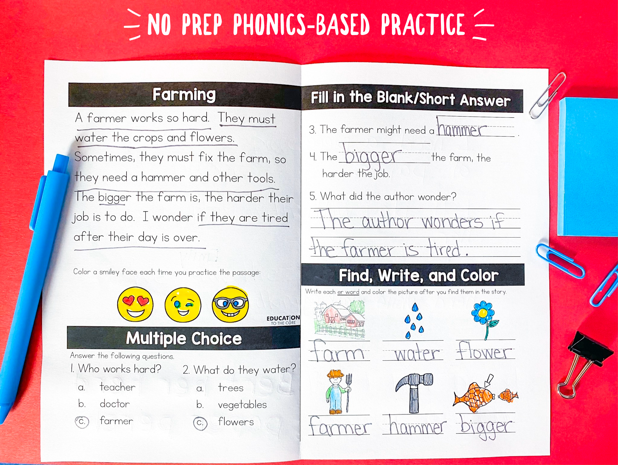 Over 200 No Prep Phonics Activities These Phonics Based