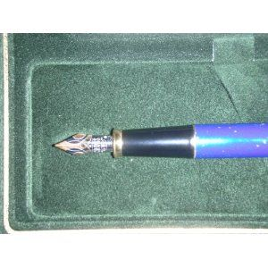 Cross Townsend Lapis Lazuli Fountain Pen 18kt Rhodium Plated M Nib Pen in Original Cross Box with Paperwork Made in USA