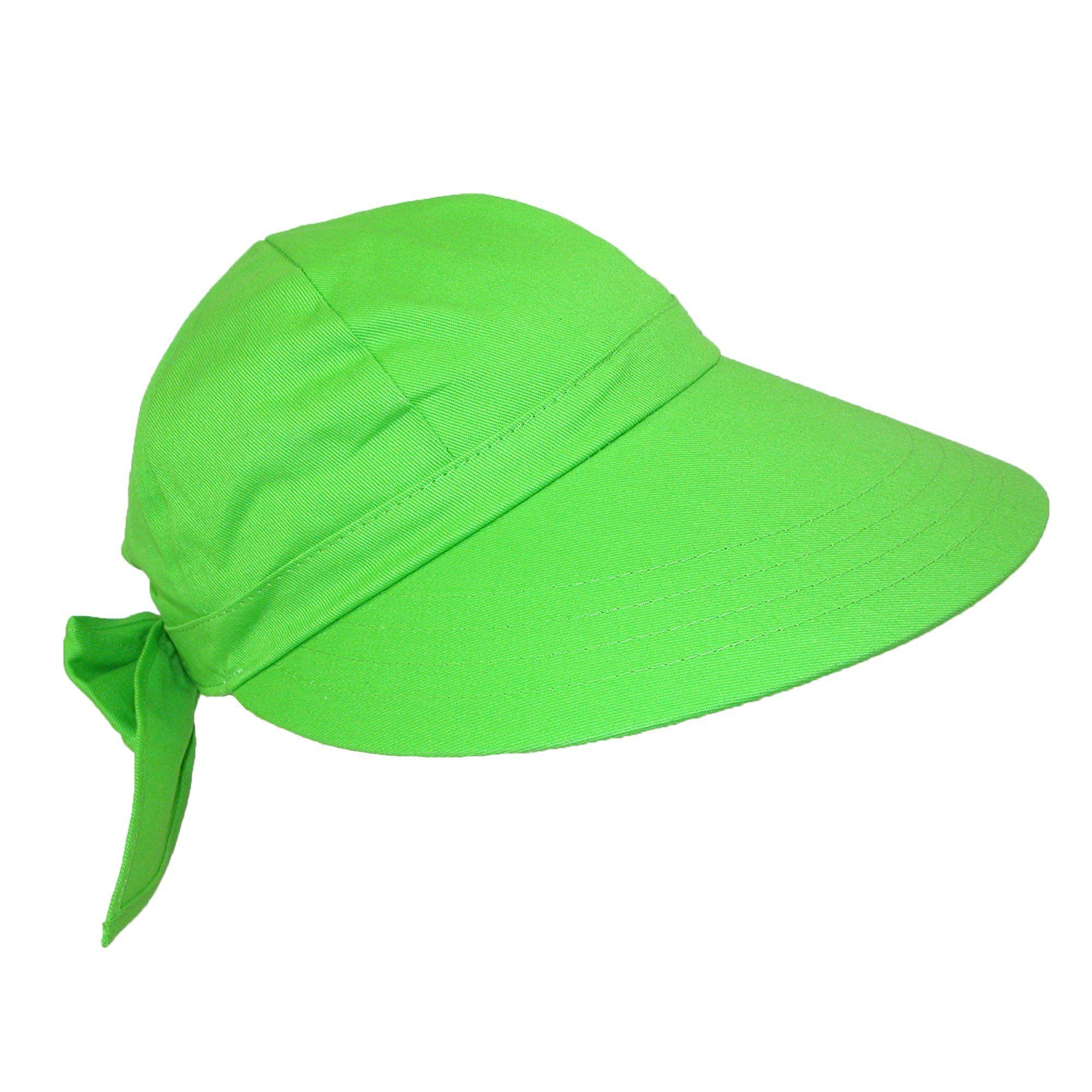 CTM® Women s Cotton Wide Brim Facesaver Sun Visor Hat  dbe7b9bfc39a