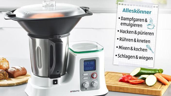 Ambiano küchenmaschine ~ Aldi thermomix klon ambiano: küchenmaschine mit kochfunktion