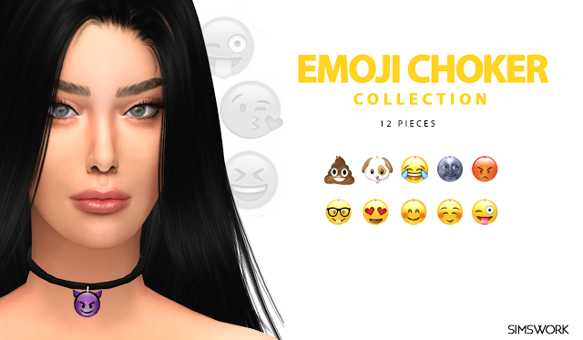 Sims 4 CC's - The Best: Choker Collection by Simswork