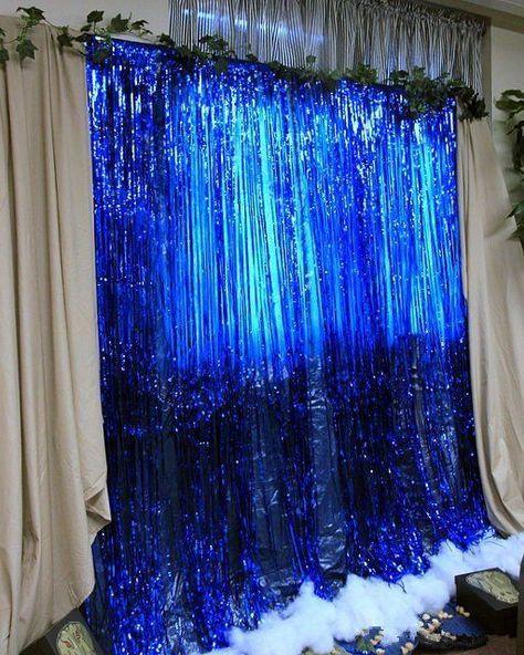 Big 3ft X 8ft Fringe Foil Curtain Party Tinsel Backdrop Party