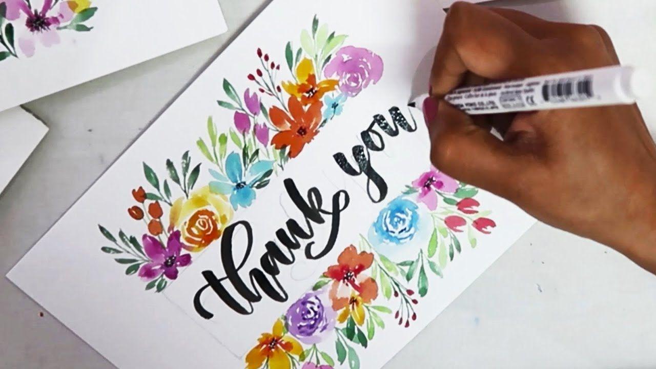 Easy Diy Thankyou Card Greeting