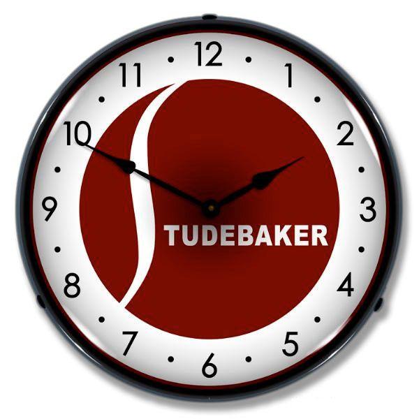 Studebaker 1940s Logo Light Up Car Garage Clock Garage Clock Wall Clock Light Studebaker