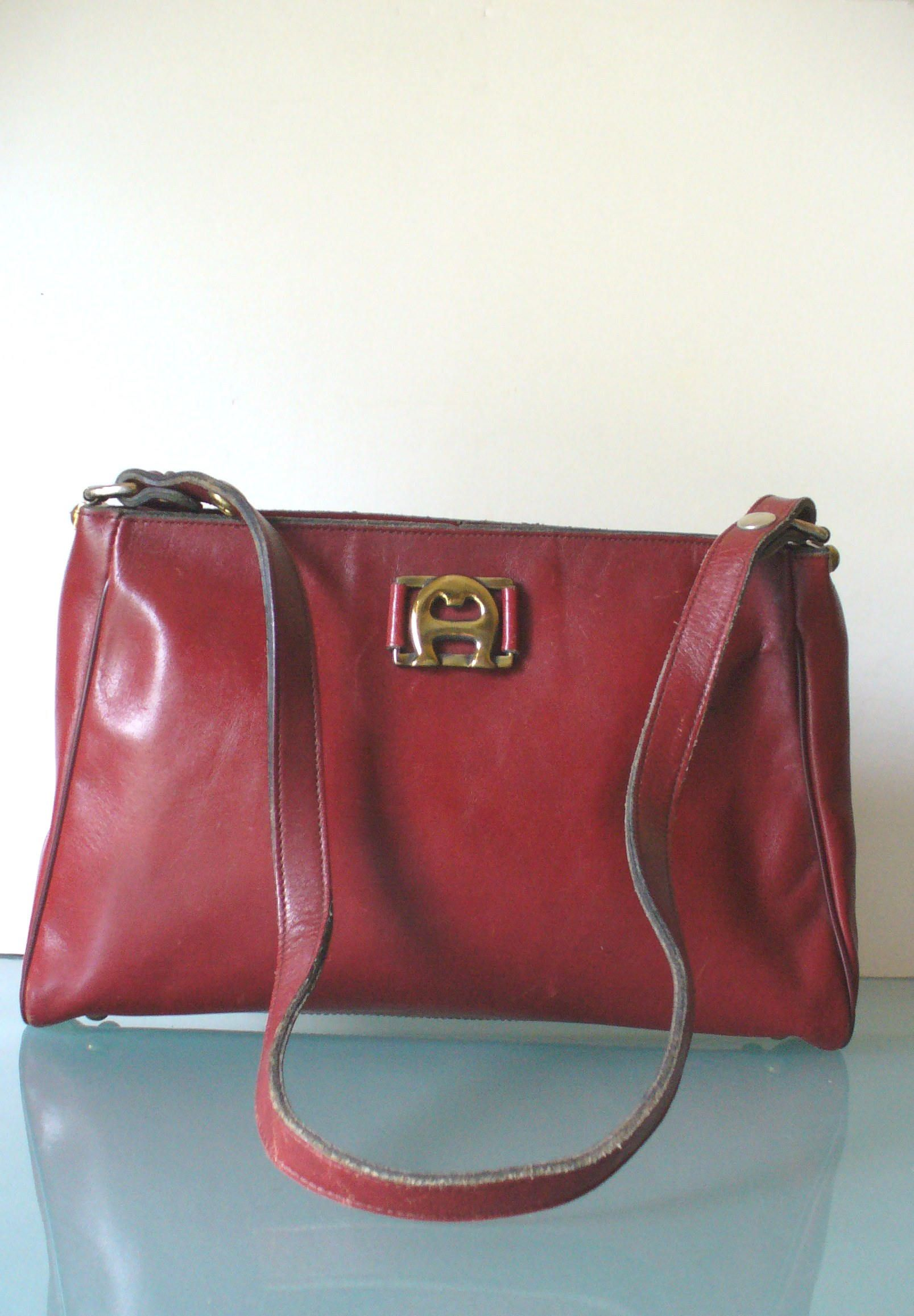 98070465746a Vintage Etienne Aigner Oxblood Shoulder Bag Purse by TheOldBagOnline on Etsy