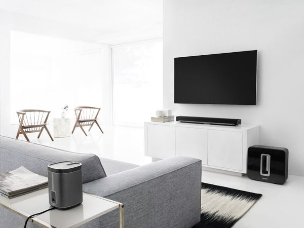 Sonos surround sound package with playbar as soundbar sub subwoofer and play  surrounds also rh in pinterest
