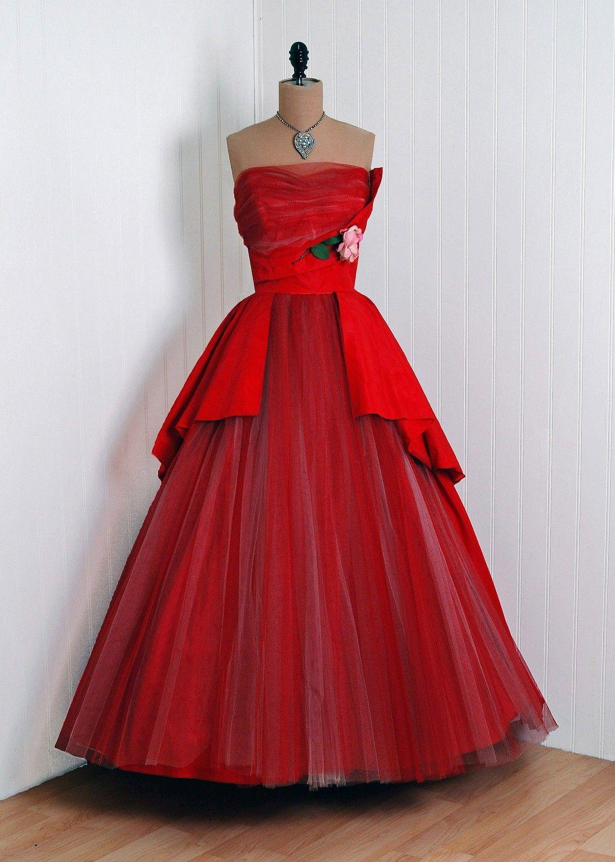 Red dress s timeless vixen vintage fashion s