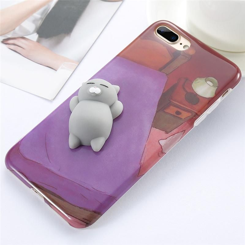 91bbf23e9f KISSCASE Cute 3D Squishy Case For iPhone 7 6 6s Plus Funny Cat Panda Seal 3D  Cover For iPhone 5s 6 6s 7 Plus Phone Case Squishy
