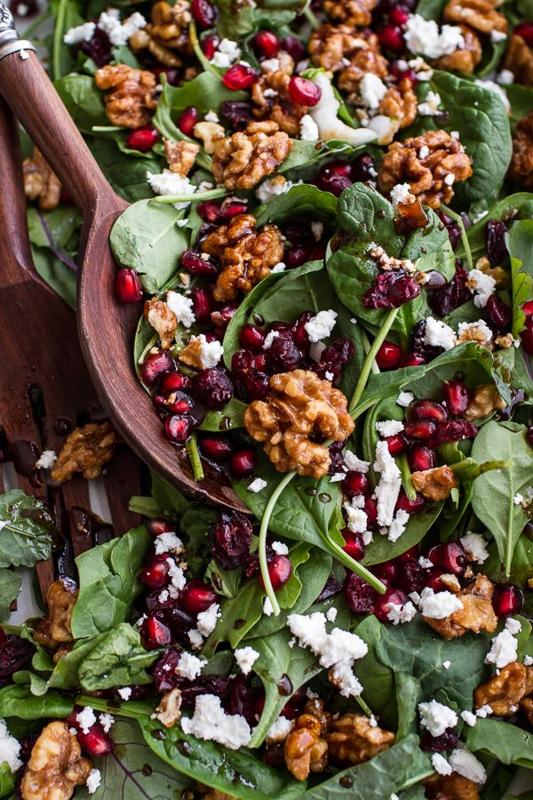 Winter Salad with Maple Candied Walnuts