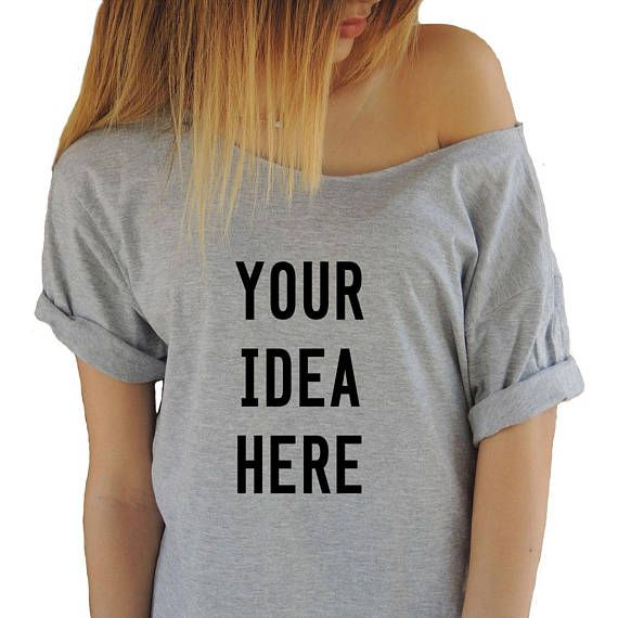 eb9b4b2a Custom T-shirt, Womens Custom Shirt, Personalized T-shirts, Customized  Apparel, Custom Tees, Off Shoulder T-shirt, Custom Printed Unisex Tee