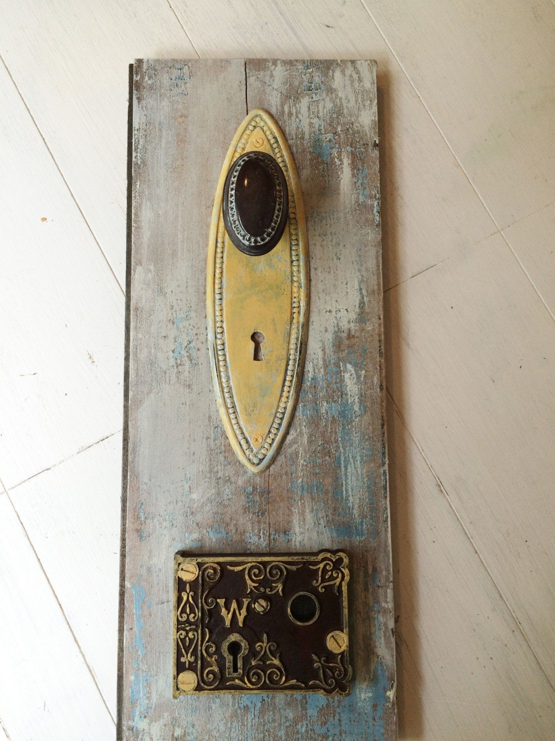 wall hook wall art wall decor vintage door knob hook door plate - Vintage Door Knobs