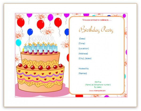 Microsoft Word Birthday Invitation Templates Birthdayphotos Xyz Free Birthday Card Birthday Card Template Free Happy Birthday Template