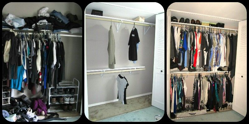 More hanging, less folding keeps area more organized