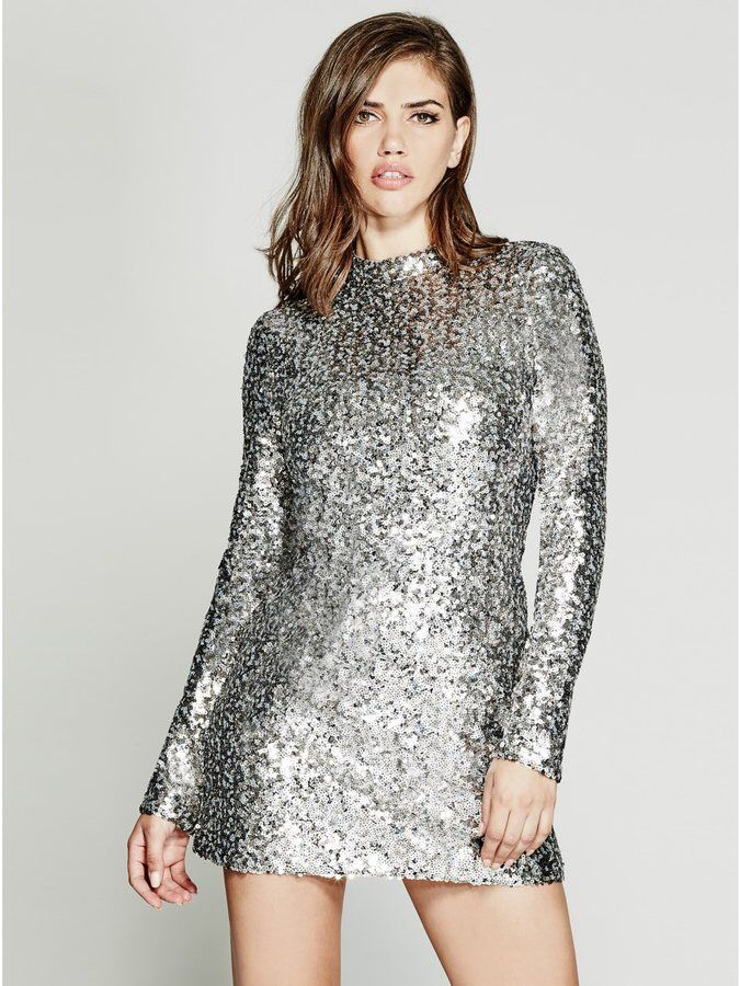 a98bca0cc9 GUESS by Marciano Platinum Sequin Dress