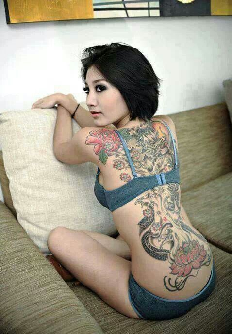 Asian women tattoed