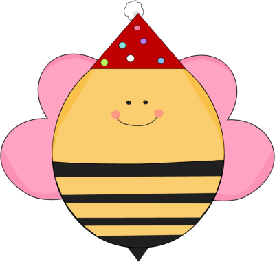 Girl Girl Birthday Bee In A Party Hat Bee Party Bee Party Hat Bee