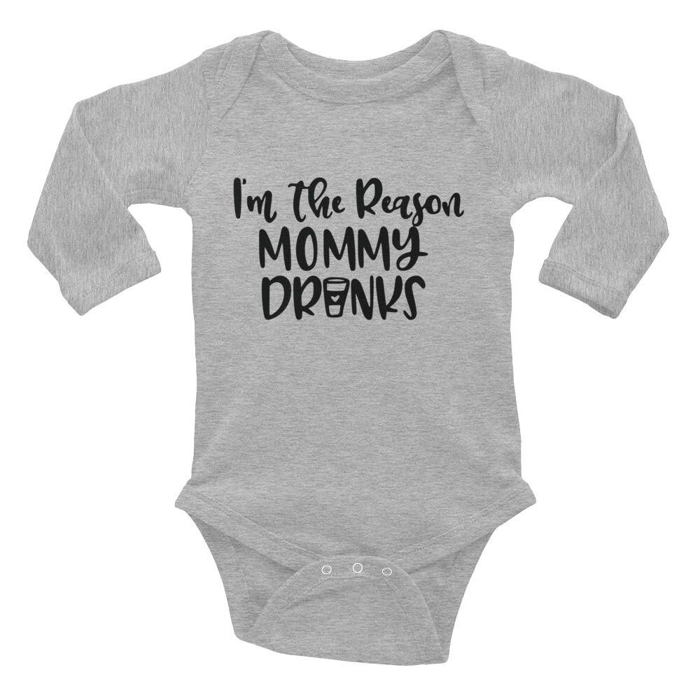i'm the reason mommy drinks coffee bodysuit  pregnant