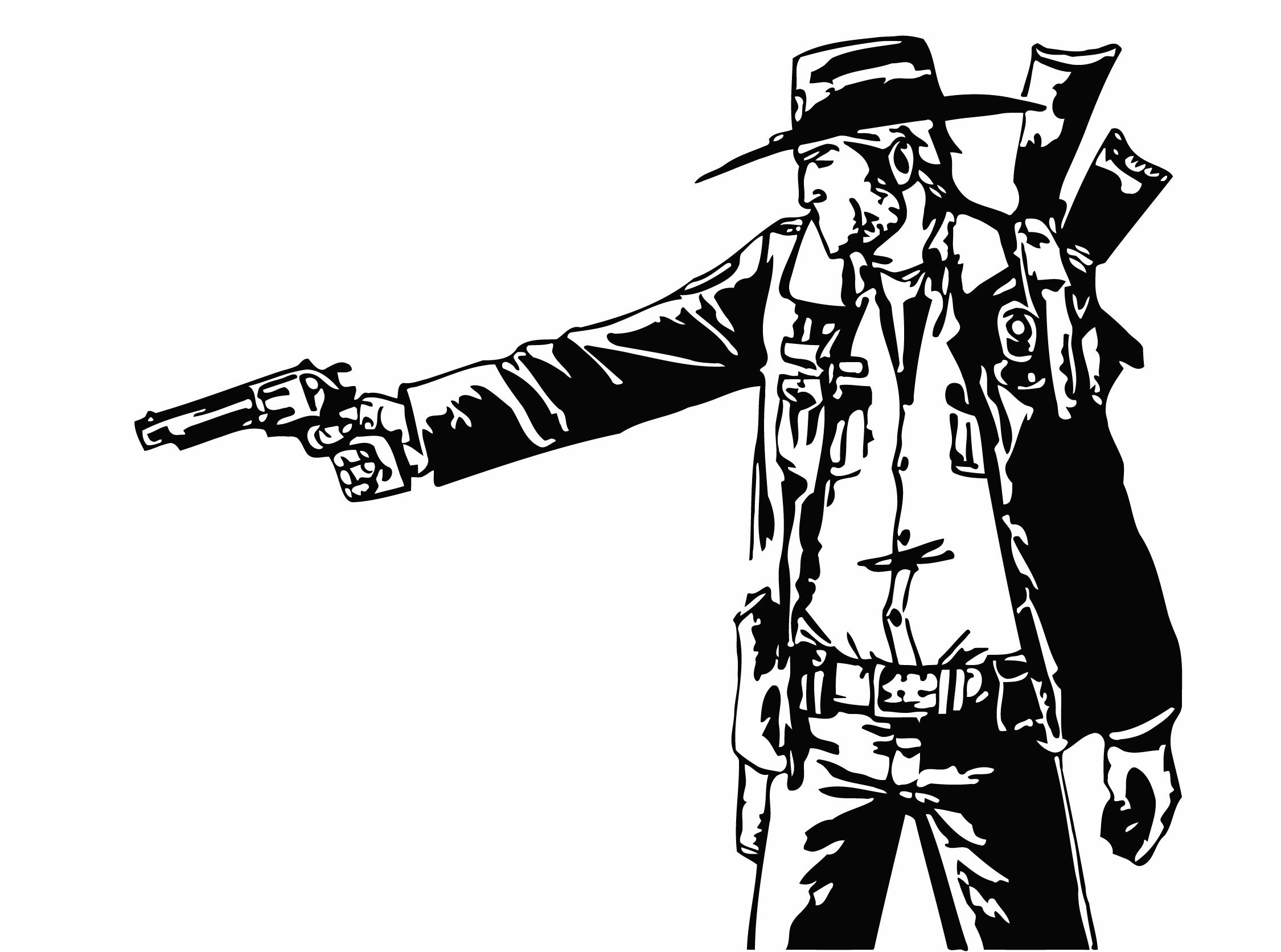 Rick Grimes | Stencils | Pinterest