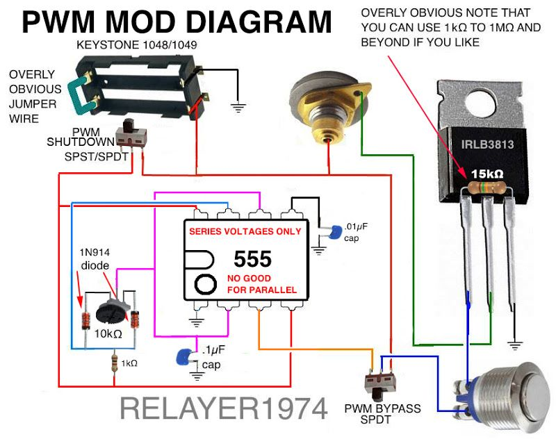 555 Pwm Mosfet Diagram