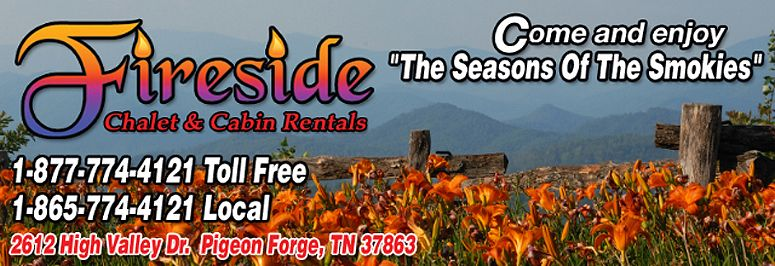 Fireside Chalets And Cabin Rentals In Pigeon Forge Tennessee Offers