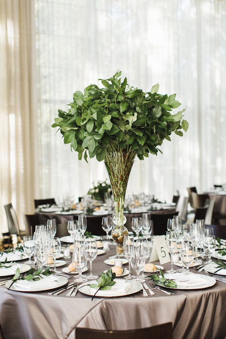 Greenery Large Centerpiece Photo By Ashley Caroline Photography At The Round House Greenery Wedding Centerpieces Green Wedding Centerpieces Green Centerpieces