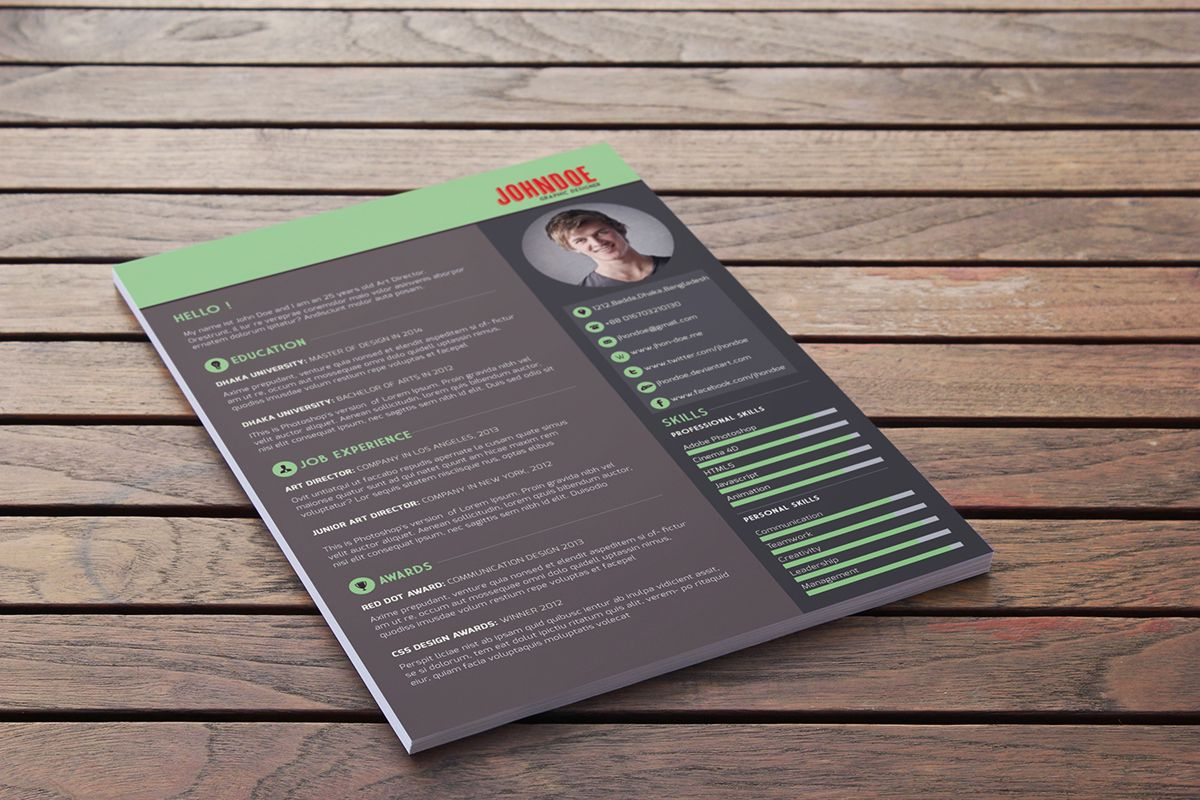 Behance r4jpg 1200800 resume Pinterest