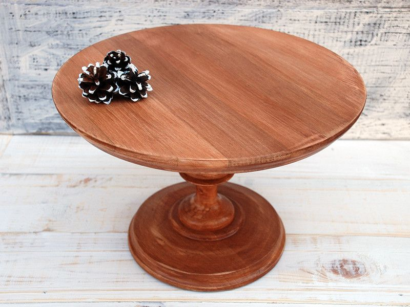 12 Inches 30cm Wooden Cake Stand Cake Holder Wooden Cake Stands Wooden Stand Wooden