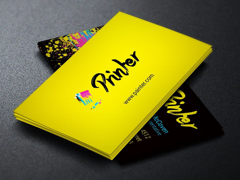 Printer Business Card Template Business Cards Creative Templates Business Card Logo Design Art Business Cards