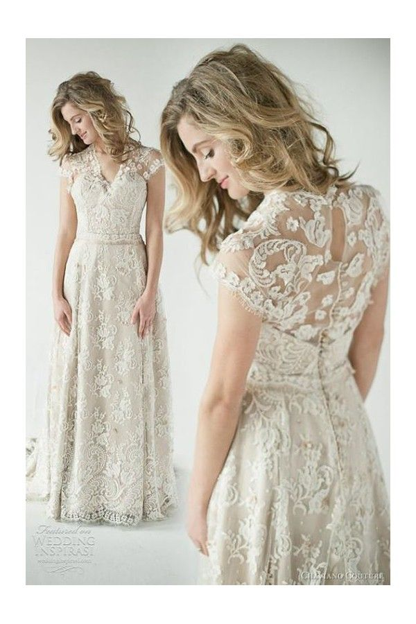 vestidos de novia baratos y sencillos 100% de encaje . con mangas