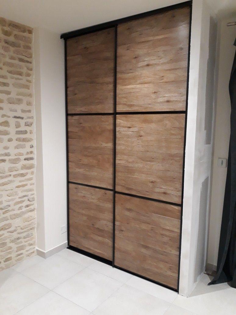 porte dressing imitation industriel porte placard placard porte placard et placard industriel. Black Bedroom Furniture Sets. Home Design Ideas
