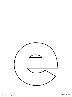 Lowercase Letter E Template Printable  Letter Templates