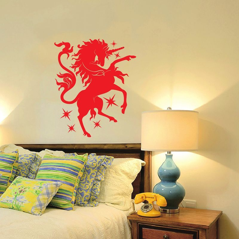 zuczug unicorn in this house diy wall stickers 55x66cm/21x26in