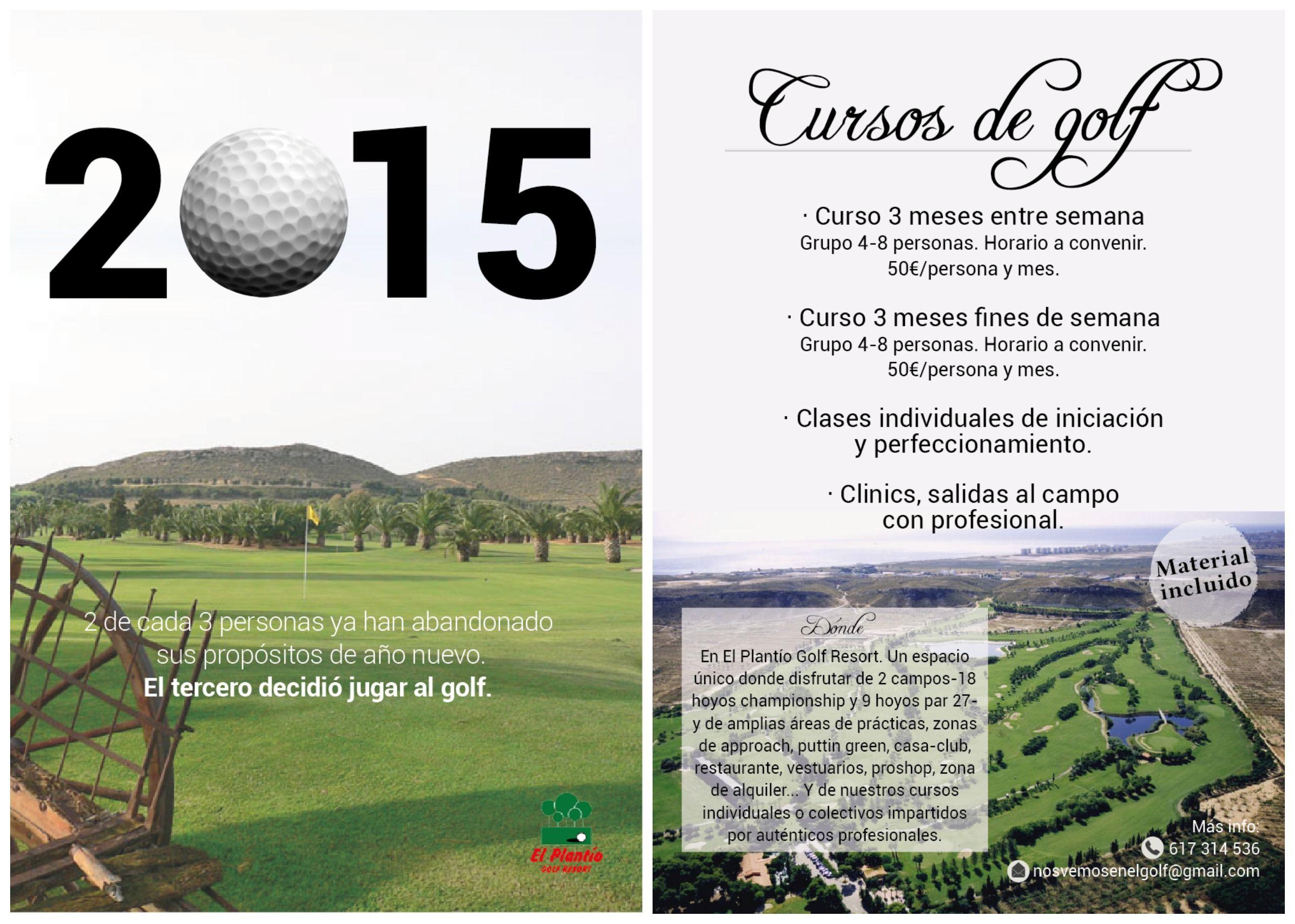 Flyer A Dos Caras A Todo Color Elaborado Para Los Cursos De Golf En El Plantío Fue Elaborado En Enero Del Año 2015 Cursillo Año 2015 Caras