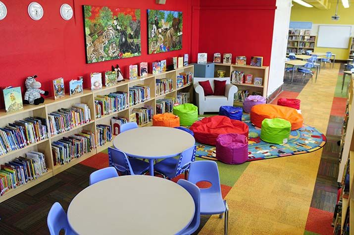 target school library makeover program, for bancroft elementary