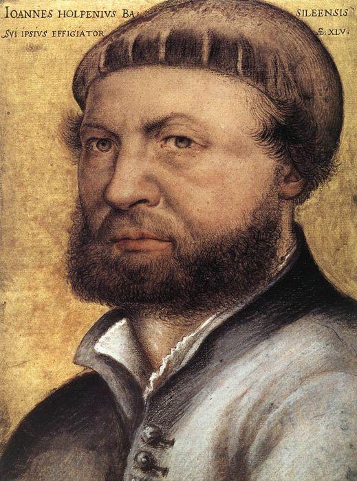 Hans Holbein Les Ambassadeurs : holbein, ambassadeurs, Auroportrait, Holbein,, Jeune., Autoportrait,, Portraits,, Holbein, Jeune