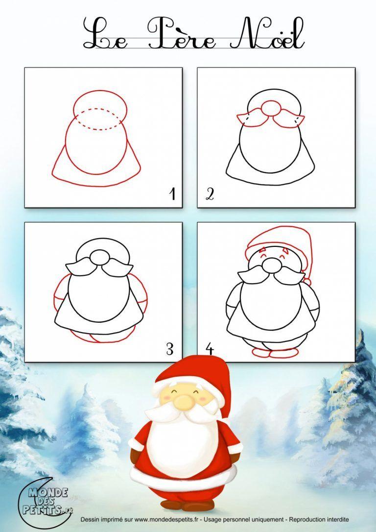 Modele Dessin Pere Noel Facile Comment Dessiner Le Pere Noel Dessin Noel Dessin Pere Noel