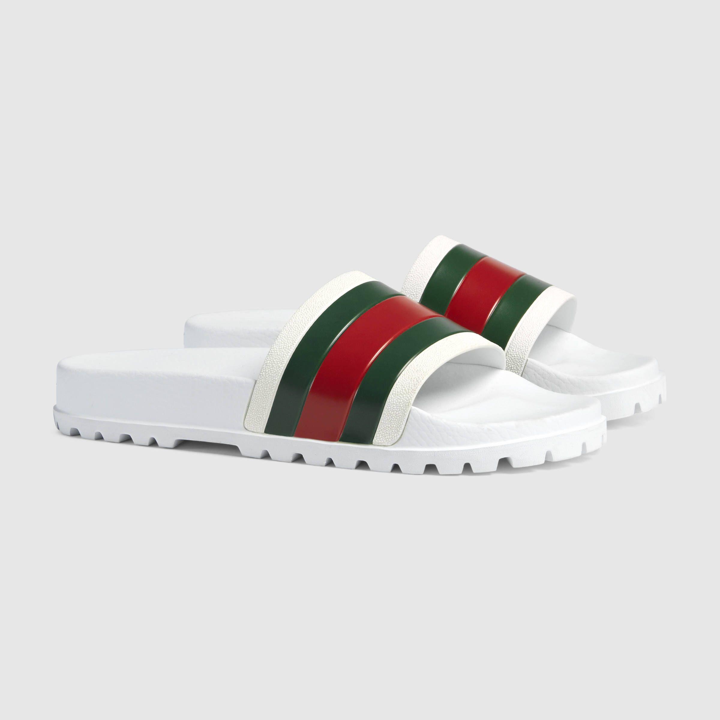 7826a1c44 Gucci Web slide sandal Detail 2