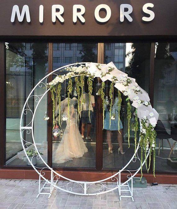 Diy Wedding Arch Ideas Circle: Circle Wedding Arch, Round Wedding Arch, Wedding Arch