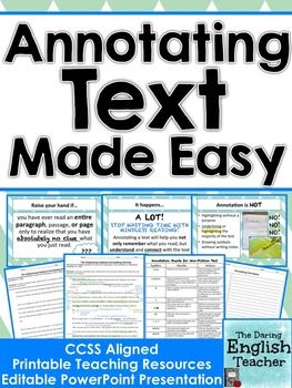 Annotating text made easy ccss aligned annotating text texts annotating text made easy ccss aligned ccuart Gallery